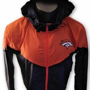 Denver Broncos Full Zip Hooded Windbreaker Jacket